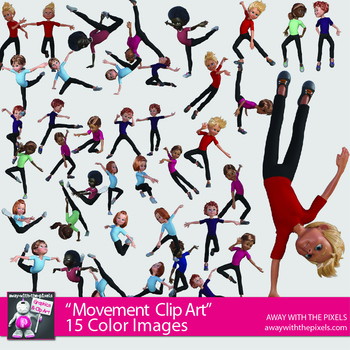 General Movement Gymnastics and Dance Sports and Fitness PE Clip Art Images