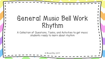 General Music Bell Work Bundle