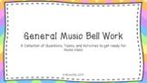 General Music Bell Work Bundle