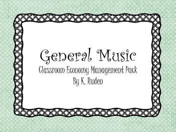 General Music Classroom Management Pack--Dots Decor