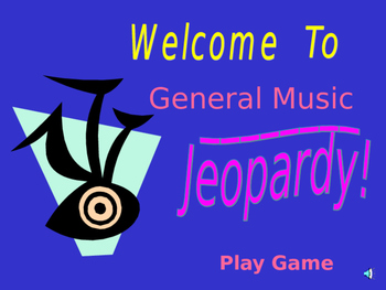 Music Jeopardy Template