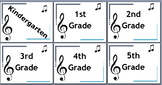 General Music K-5 Headers for specific grades