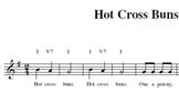 General Music K-5 Hot Cross Buns Sheet Music
