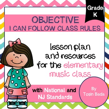 General Music Kindergarten Lesson #1: {I Can Follow Music Class Rules}