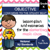 General Music Kindergarten Lesson #4: {I Can Move to the Steady Beat}