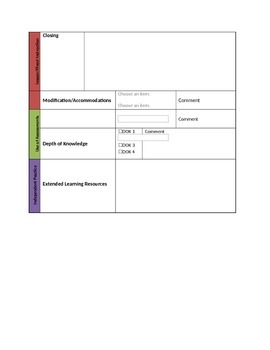 General Music Lesson Plan Template
