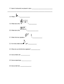 General Music Review Quiz