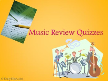 General Music Theory Review Quizzes