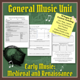 General Music Unit: Music of the Medieval and Renaissance Eras (Music History)