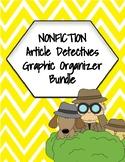 Nonfiction Article Detectives Graphic Organizer Bundle