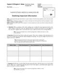 General Nonfiction Analysis Question Set #2 (Common Core)