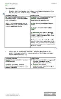 H1/8807 GENERAL PAPER: GCE A LEVEL 2015 Paper 2 Suggested Answers