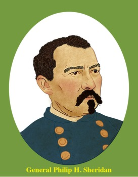 General Philip H. Sheridan Realistic Clip Art, Coloring Page, and Poster