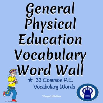 General Physical Education Vocabulary Word Wall