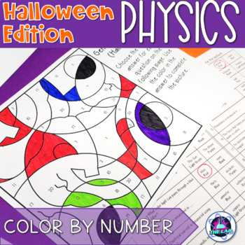Halloween General Physics Color-by-Number
