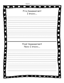 General Differentiated Pre and Post Assessment, Data, Evaluation