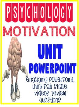 General Psychology Motivation Powerpoint with Engaging Activities