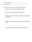 General Reading Comprehension Questions for Spanish