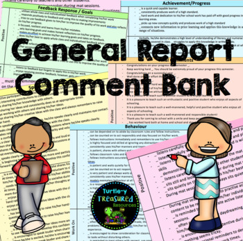General Report Comment Bank