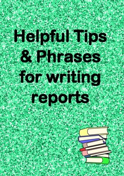 General Report Writing Comments - All Year Levels - Australian Curriculum