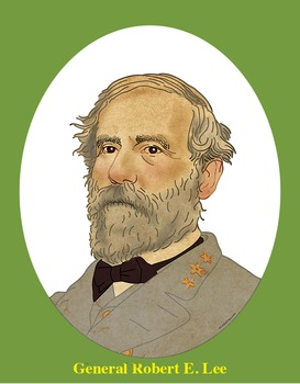 General Robert E. Lee Realistic Clip Art, Coloring Page, and Poster