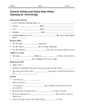 General Safety Worksheet