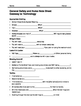 General Safety Worksheet