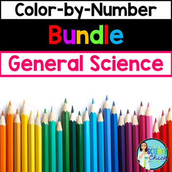 General Science Color-by-Number Growing Bundle