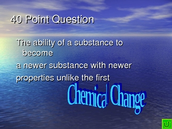 General Science Final Review Jeopardy Game #3 (Chemistry)