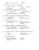 General Science Laboratory Safety Test W/KEY