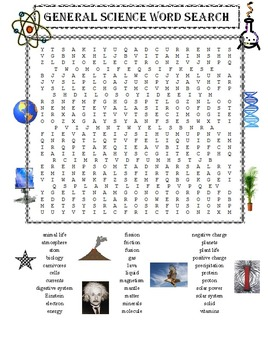 General Science Word Search Puzzle