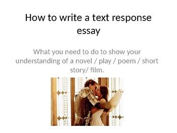 writing a text response essay