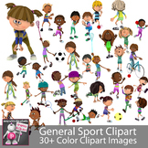 General Sports and Fitness PE Clip Art Images