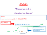 General Statistics - Mean, Median, Mode, Range and Mean Absolute Deviation