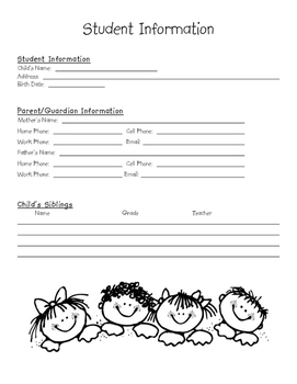 General Student Information Sheet