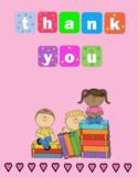 General Teacher Quarter Fold Thank You Card
