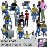 General Realistic Teen Secondary Student Clipart - Teenager Clipart