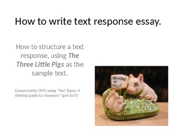 General Text Response Essay Middle School