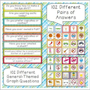 General-Themes Daily Graph Printables - 102 Full-Color Graph Questions
