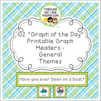 General-Themes Daily Graph Printables - 102 Full-Color Gra