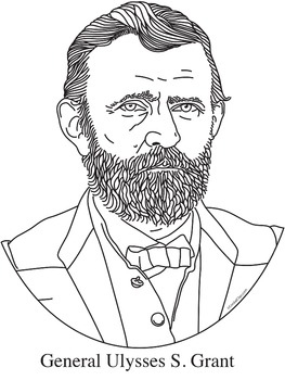 General Ulysses S. Grant Realistic Clip Art, Coloring Page, and Poster