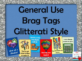 General Use Brag Tags Glitterati Style