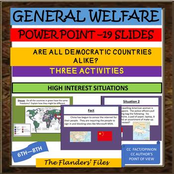 General Welfare Democracy Powerpoint government activities high interest