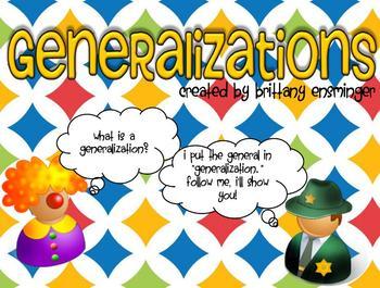 Generalization Flipchart & Group Activity