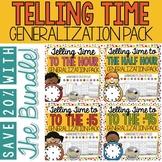 Generalization Pack for Telling Time BUNDLE