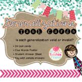 Generalization Task Cards
