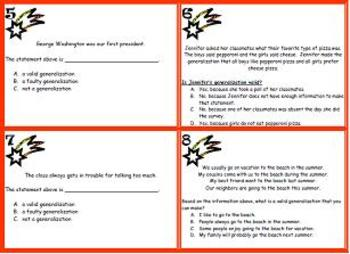 Generalization Task Cards- 24 Multiple Choice Cards- Scoot or Center Activity