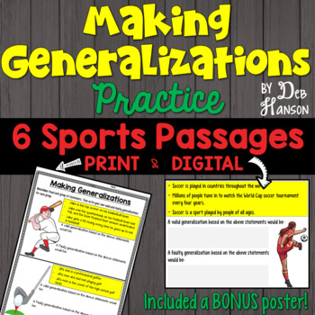 Valid Generalizations Worksheets & Teaching Resources | TpT