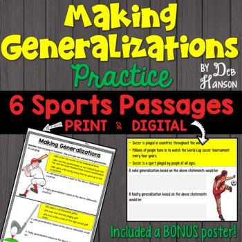 Generalizations Worksheets Photos - pigmu