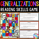 Making Generalizations Activity: Making Generalizations in Reading Game